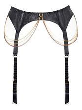 Agent Provocateur SOIREE Dominatrix Style Allix Black Leather Suspender BNWT