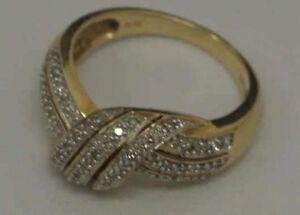 Ring 585er Gelbgold mit zahlreichen Diamantsplittern,Ringgröße 56, 5,6 Gramm/s18