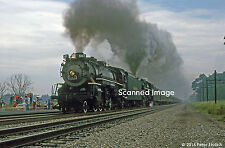 Original Photograph: Nickel Plate 587 and 765 doubleheader at Argos, IN (5 x 7)