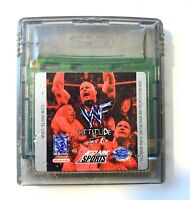 WWF Attitude NINTENDO GAMEBOY COLOR GAME Tested + Working & Authentic!