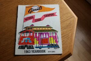 1963 San Francisco Giants MLB baseball yearbook