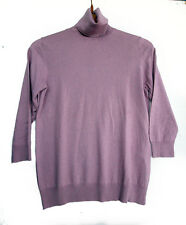Zara Jersey en seda morado size M light violet high neck sweater in silk