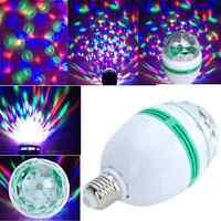 Full Color Rotating Light Bulb LED Automatic Disco Party Lightbulb 3W Christmas