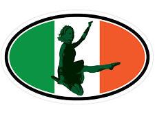 Irish Step Dancer Female Flag Ireland Irish Decal Sticker