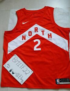 Kawhi Leonard Toronto Raptors Earned Edition Nike Swingman Jersey Men 56 XXL 2XL
