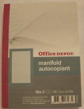 Manifold carnet autocopiant A6 105 x 148 mm tripli 50 pages quadrillé 5 x 5