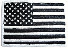 USA CLOTH PATCH United States of America iron on flag badge black Stars Stripes