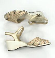 Vintage 50s 60s Peep Toe Wedge Heels 8.5 / 9 Rockabilly Vlv Pinup Looks