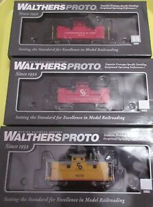 3 WALTHERSPROTO Chesapeake & Ohio (C&O) 25' Wood Cabooses from various eras