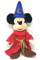 Vintage Disney Plush 18 in. Mickey Mouse Fantasia Sorcerer Wizard Stuffed Animal