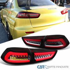 For 08-17 Mitsubishi Lancer EVO X Red LED Tail Brake Lights Signal Lamps Pair