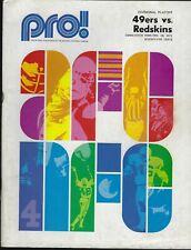 1971 NFC Divisional Playoff Program - Washington Redskins @ San Francisco 49ers