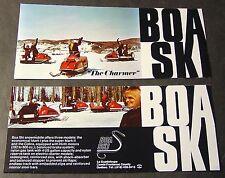 VINTAGE 1971 BOA-SKI SNOWMOBILE LEAFLET STYLE SALES BROCHURE NICE++