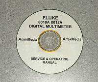 FLUKE 8800A DIGITAL MULTIMETER   INSTRUCTION MANUAL OPERATING /& SERVICE