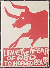 Original Vintage Poster Anti Vietnam Anti War Communist Student Protest 1960s