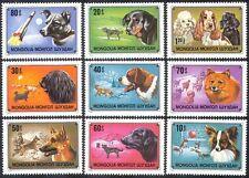 Mongolia 1978 SPACE/Dogs/Laika 9v set ref:n11613