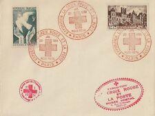 LETTRE ENVELOPPE EXPOSITION LA CROIX ROUGE ET LA POSTE MUSEE POSTAL JANVIER 1951