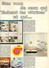 PUBLICITE 1970  ROCHE ET BOBOIS  meubles  chambre à coucher