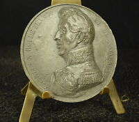 Medalla piedra arenisca XIX King rey de France Carlos X comte Artois 51mm