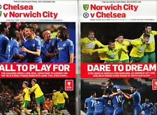 BOTH LEGS YOUTH CUP FINAL 2013 CHELSEA v NORWICH MINT PROGRAMMES