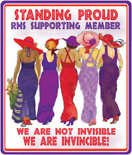 (R) 4X PURPLE T SHIRT FOR RED HAT LADIES OF SOCIETY WHO STAND PROUD IN SUPPORT