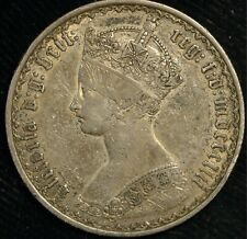 More details for florin victoria gothic mdcccliii 1853 vf+ silver genuine (t9)