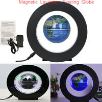 Novelty LED World Map Floating Globe Magnetic Levitation Light Antigravity V0A2