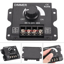 30A LED Dimmer DC 12V 24V 360W Adjustable Brightness Lamp Bulb Strip Driver New