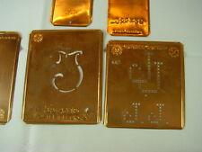 5 x JJ Merkenthaler Monogramme, Kupfer Schablonen, Stencils, Patrons broder