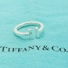 584d4b1c6 Tiffany & Co 925 Sterling Silver Bold Signature T Square Ring Band Size 7