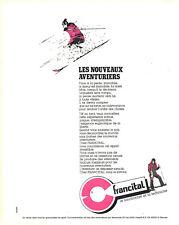 Publicité Advertising  108  1982   vetements de ski Francital