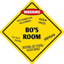 """*Aluminum* Bo's Room Kids Room Door 12""""x12""""  Metal Novelty Sign"""