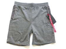 $80 Versace V 19.69 Italia Mens M Performance Fleece Mesh Panel Knit Shorts New