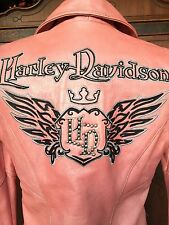 Harley Davidson Jacket Women S Small Pink Motor Cycle Queen Hot  97140-07VW