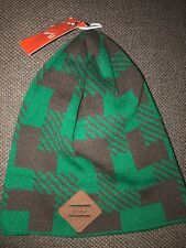 e831db62c90 360106-302 NWT Adult 6.0 Skateboarding Knit Beanie Hat Green Brown Rare 2009
