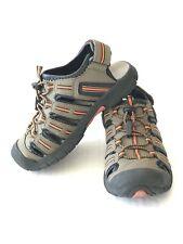 Khombu Ronan Brown/Orange Sandals Boys Size 12M *Euc*