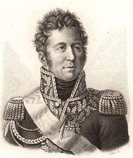 Portrait Maréchal Law de Lauriston Pondichery Inde Napoléon Premier Empire 1818
