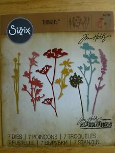 Sizzix - Tim Holtz - Wild flowers - 661190 thinlits