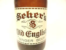 vintage ACL Soda POP Bottle:  SEHER'S OLD ENGLISH GINGER BEER of OHIO - 10 oz
