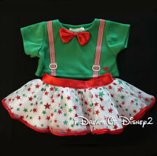 NEW Build-A-Bear CHRISTMAS TUTU SKIRT, GREEN SUSPENDER TOP Teddy Clothes Outfit