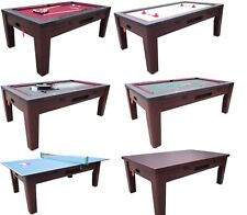 6 in 1 COMBO GAME TABLE ~POOL~AIR HOCKEY~PING PONG~ROULETTE~POKER~DINING ~WALNUT