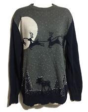 TU Rare Christmas Xmas Design MENS GENTS M JUMPER SWEATER PULLOVER Soft Cotton