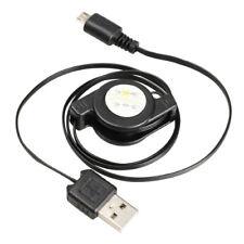 Cable Micro USB Retractable Cordon USB Mâle pour Smartphone Tablette GPS Noir