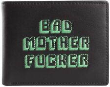 Bad Mother EFFER Wallet Black with Green Embroidery. Guaranteed 3 Day Delivery!!