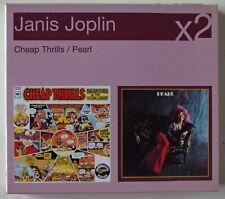 JANIS JOPLIN X 2 CD's BOX SET CHEAP THRILLS & PEARL + BONUS TRACKS / LEGACY 2000