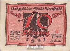 Arnstadt Notgeld: 43.1 Notgeld der Stadt Arnstadt, Bst.: a bankfrisch 1921 10 Pf