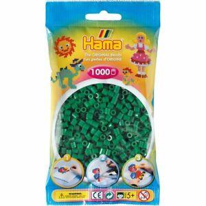 Hama 207-10 - Confezione  perline da stirare  color verde 1.000 pezzi
