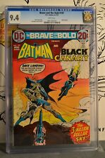 Brave and the Bold #107 CGC 9.4 1973 Batman Black Canary Classic Cover