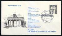 Germany 1973 cover SST Sonderstempel Bonn Konig Olav,Leonid Breschnew in Bonn