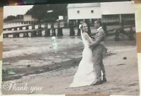 Postcard Social History Wedding Thank You - posted